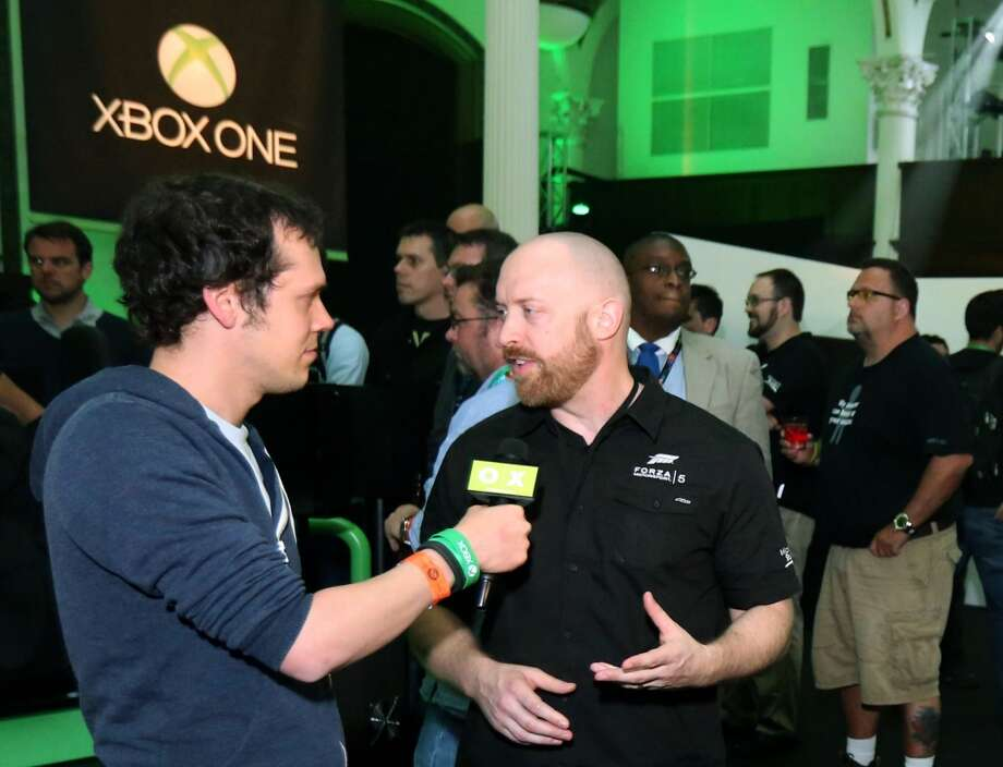 Turn 10 Studios creative director Dan Greenawalt discusses his upcoming game, Forza 5, at the Xbox One event in Los Angeles on June 10th, 2013.