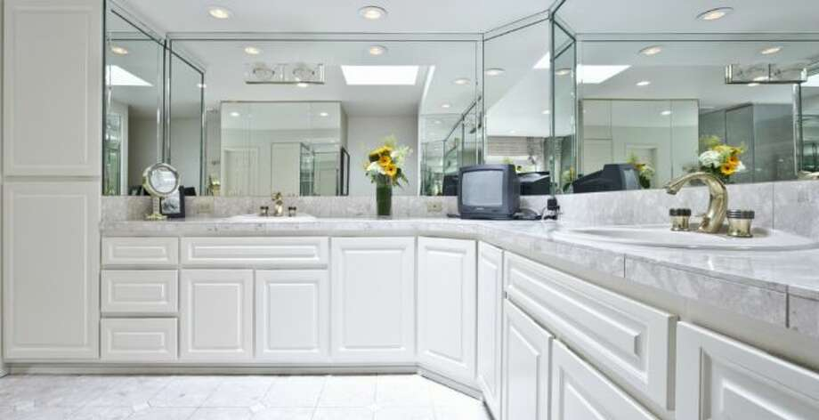 Master bathroom of 13220 N.E. 24th St., in Bellevue. Photo: Courtesy Tere Foster And Moya Skillman, Windermere Real Estate