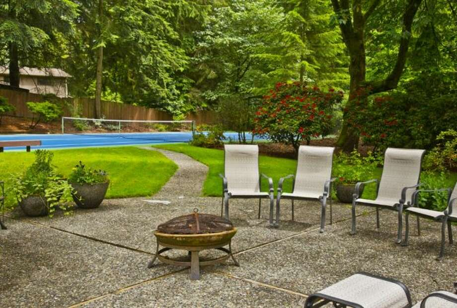 Patio of 13220 N.E. 24th St., in Bellevue. Photo: Courtesy Tere Foster And Moya Skillman, Windermere Real Estate