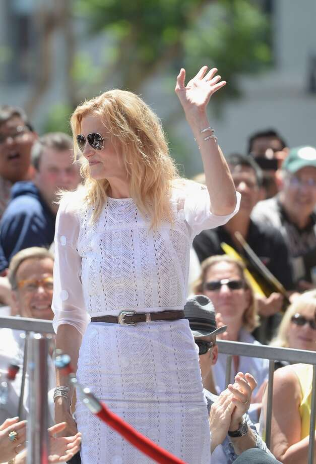Actress Anna Gunn attends the Hollywood Walk of Fame ceremony honoring Bryan Cranston on July 16, 2013 in Hollywood, California.  (Photo by Michael Buckner/Getty Images)