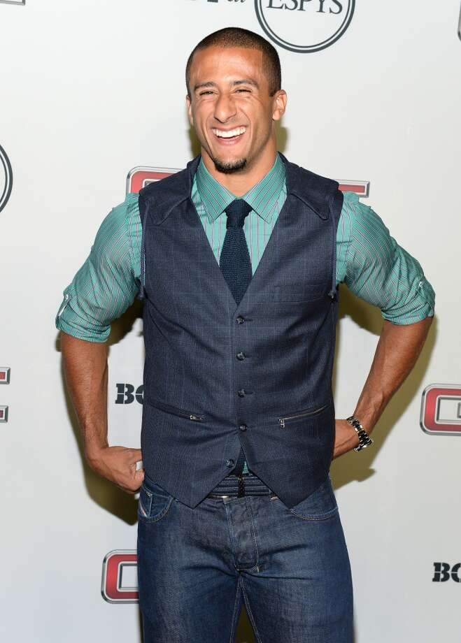 "Professional football player Colin Kaepernick attends ESPN the Magazine 5th annual ""Body Issue"" party at Lure on July 16, 2013 in Hollywood, California.  (Photo by Michael Kovac/WireImage)"