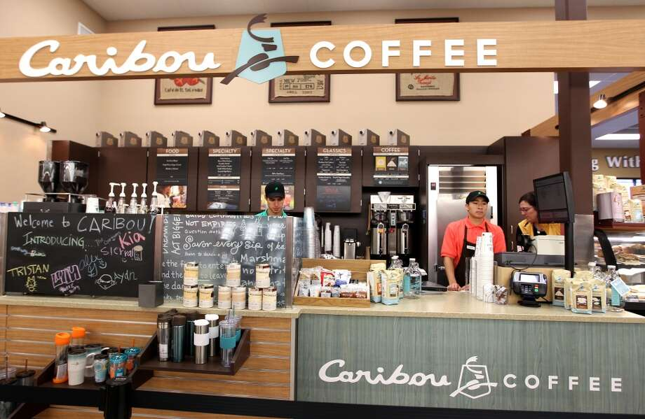 Caribou Coffee inside of the Fiesta Market Place at 13833 Southwest Freeway, Wednesday, July 17, 2013, in Houston.  This new Fiesta Market Place in Sugar Creek will offer a number of firsts for a Fiesta store.( Karen Warren / Houston Chronicle )