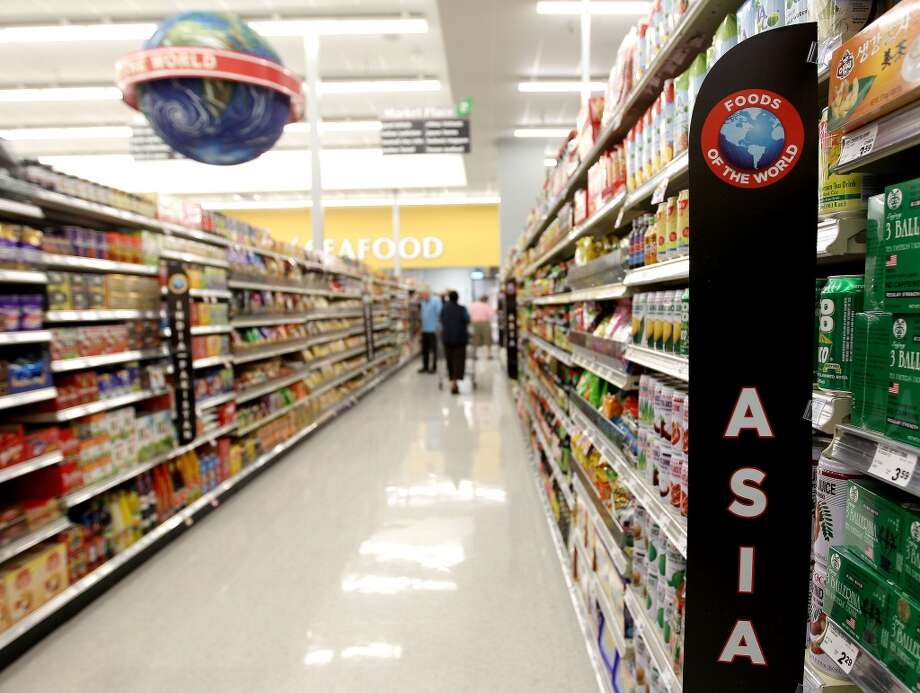 "The Asian food section in one of several ""Foods of the World"" aisles during the grand opening of the Fiesta Market Place at 13833 Southwest Freeway, Wednesday, July 17, 2013, in Houston.  This new Fiesta Market Place in Sugar Creek will offer a number of firsts for a Fiesta store.( Karen Warren / Houston Chronicle )"
