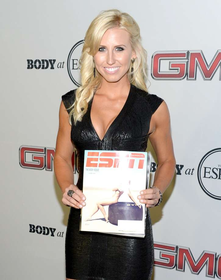 "Pro Drag racer Courtney Force attends ESPN The Magazine 5th annual ""Body Issue"" party at Lure on July 16, 2013 in Hollywood, California.  (Photo by Michael Kovac/WireImage)"