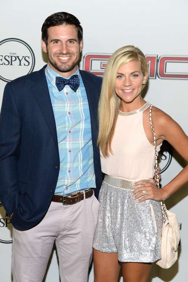 "Professional basketball player Christian Ponder (L) and ESPN Sportscaster Samantha Ponder attend ESPN The Magazine 5th annual ""Body Issue"" party at Lure on July 16, 2013 in Hollywood, California.  (Photo by Michael Kovac/WireImage)"