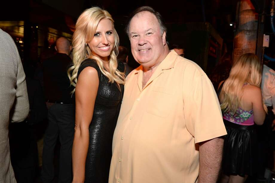 "Pro Drag racer Courtney Force (L) and actor Dennis Haskins attend ESPN the Magazine 5th annual ""Body Issue"" party at Lure on July 16, 2013 in Hollywood, California.  (Photo by Michael Kovac/WireImage)"