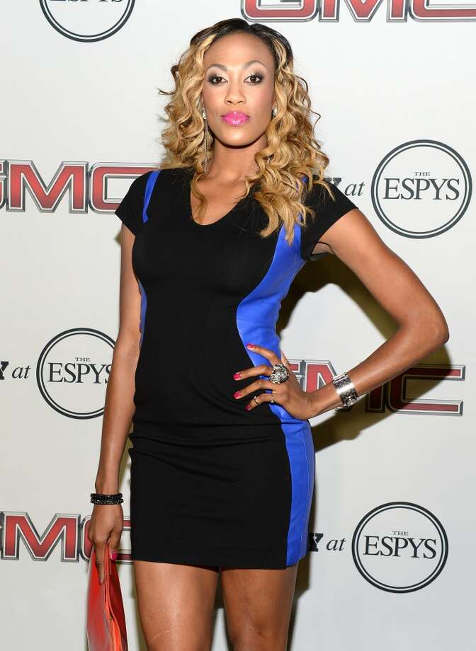 "Professional volleyball player Kim Glass attends ESPN the Magazine 5th annual ""Body Issue"" party at Lure on July 16, 2013 in Hollywood, California.  (Photo by Michael Kovac/WireImage)"