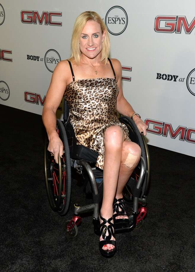 "Paralympian athlete Muffy Davis attends ESPN the Magazine 5th annual ""Body Issue"" party at Lure on July 16, 2013 in Hollywood, California.  (Photo by Michael Kovac/WireImage)"