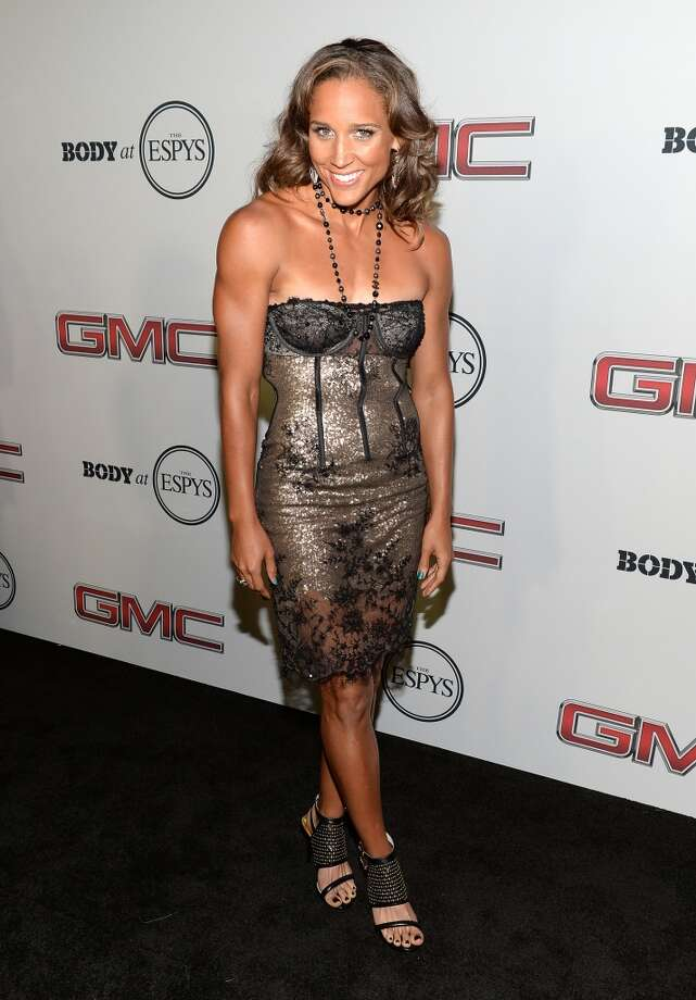 "Track and field/bobsled athlete Lolo Jones attends ESPN the Magazine 5th annual ""Body Issue"" party at Lure on July 16, 2013 in Hollywood, California.  (Photo by Michael Kovac/WireImage)"
