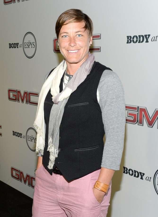 "Professional soccer player Abby Wambach attends ESPN the Magazine 5th annual ""Body Issue"" party at Lure on July 16, 2013 in Hollywood, California.  (Photo by Michael Kovac/WireImage)"