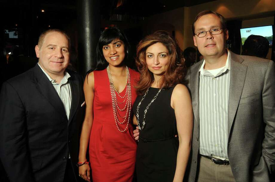 George Murr, from left, Angelique Pereira, Mahzad Mohajer and Greg Orlean Photo: Dave Rossman, Freelance / © 2013 Dave Rossman