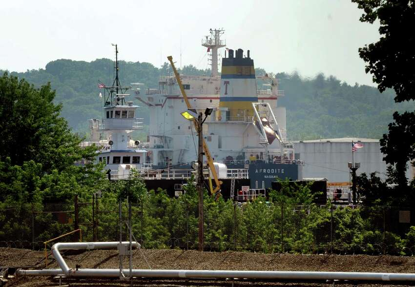 The Afrodite docked at the south end of the Port of Albany on Wednesday July 17, 2013, in Albany, N.Y. (Michael P. Farrell/Times Union)