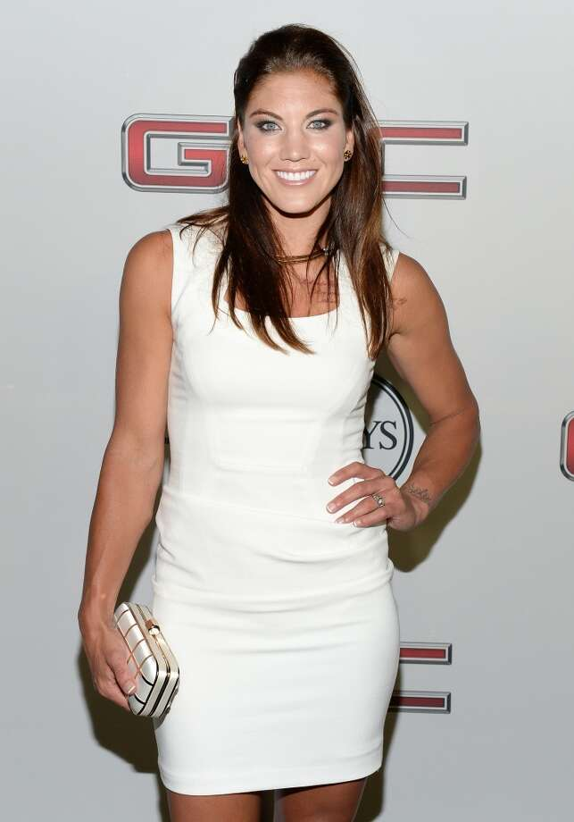 """Professional soccer player Hope Solo attends ESPN the Magazine 5th annual """"Body Issue"""" party at Lure on July 16, 2013 in Hollywood, California.  (Photo by Michael Kovac/WireImage)"""