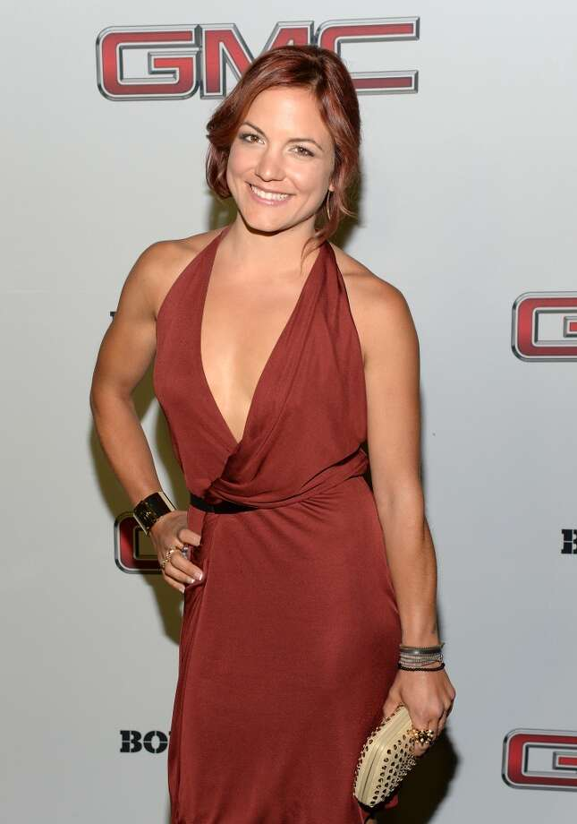 "Professional snowboarder Elena Hight attends ESPN the Magazine 5th annual ""Body Issue"" party at Lure on July 16, 2013 in Hollywood, California.  (Photo by Michael Kovac/WireImage)"