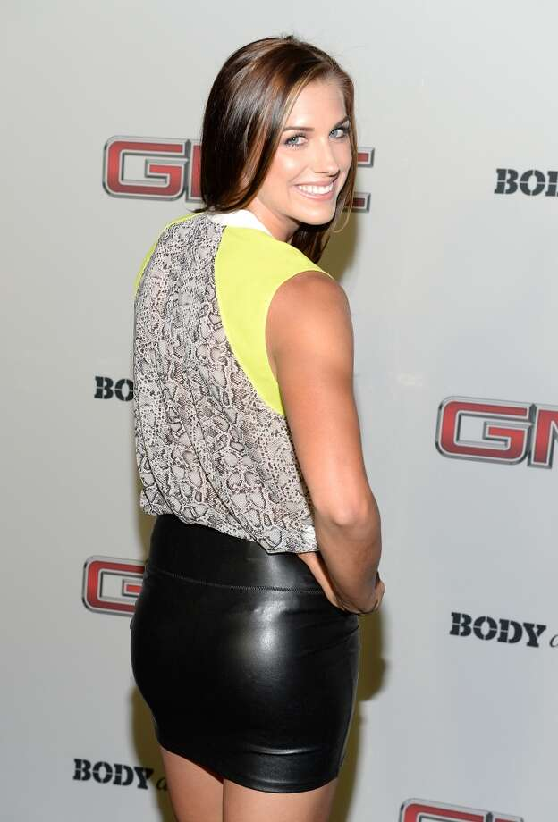 "Professional soccer player Alex Morgan attends ESPN The Magazine 5th annual ""Body Issue"" party at Lure on July 16, 2013 in Hollywood, California.  (Photo by Michael Kovac/WireImage)"
