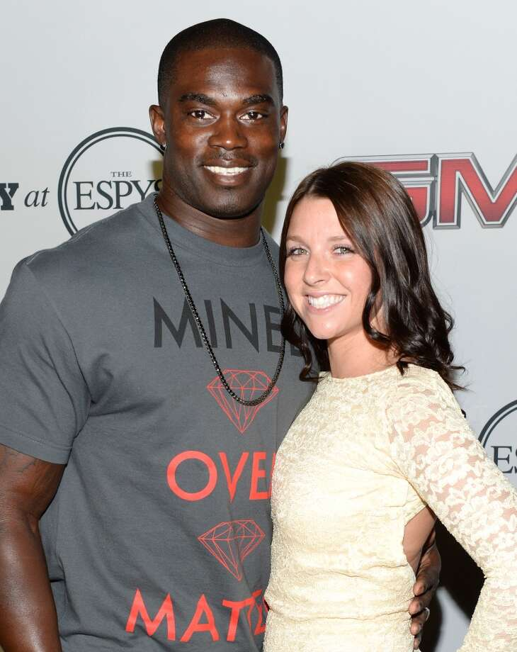 "Professional football player James Ihedigbo (L) and Britney Ihedigbo attend ESPN the Magazine 5th annual ""Body Issue"" party at Lure on July 16, 2013 in Hollywood, California.  (Photo by Michael Kovac/WireImage)"
