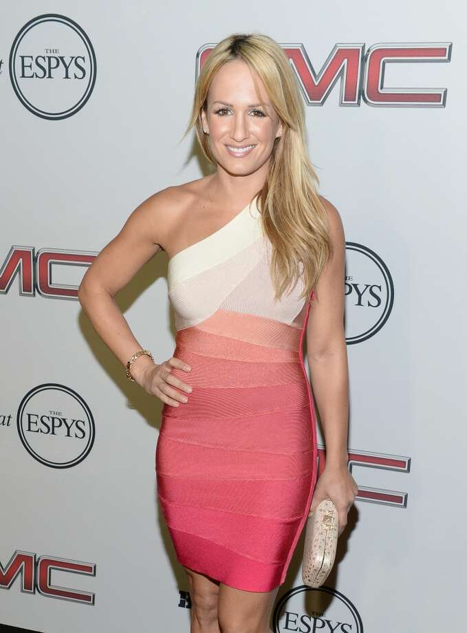 "Tv Personality/ Sportscaster Jenn Brown attends ESPN the Magazine 5th annual ""Body Issue"" party at Lure on July 16, 2013 in Hollywood, California.  (Photo by Michael Kovac/WireImage)"