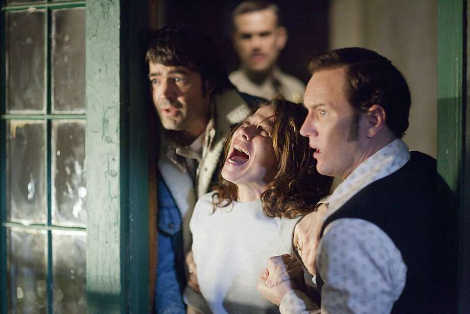 "Brad Hamilton-JOHN BROTHERTON, Carolyn Perron-LILI TAYLOR, Ed Warren-PATRICK WILSON, Roger Perron-RON LIVINGSTON in, ""The Conjuring."" Photo: Michael Tackett, Warner Bros."