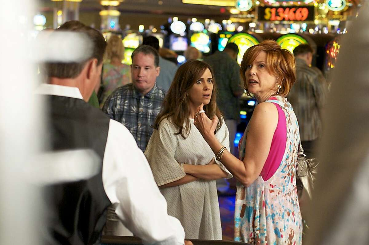 Kristen Wiig (left) and Annette Bening (right) star in GIRL MOST LIKELY