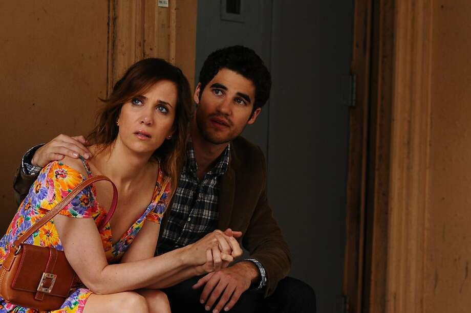 "Kristen Wiig and Darren Criss in ""Girl Most Likely,"" a confused comedy-drama. Photo: McClatchy-Tribune News Service"
