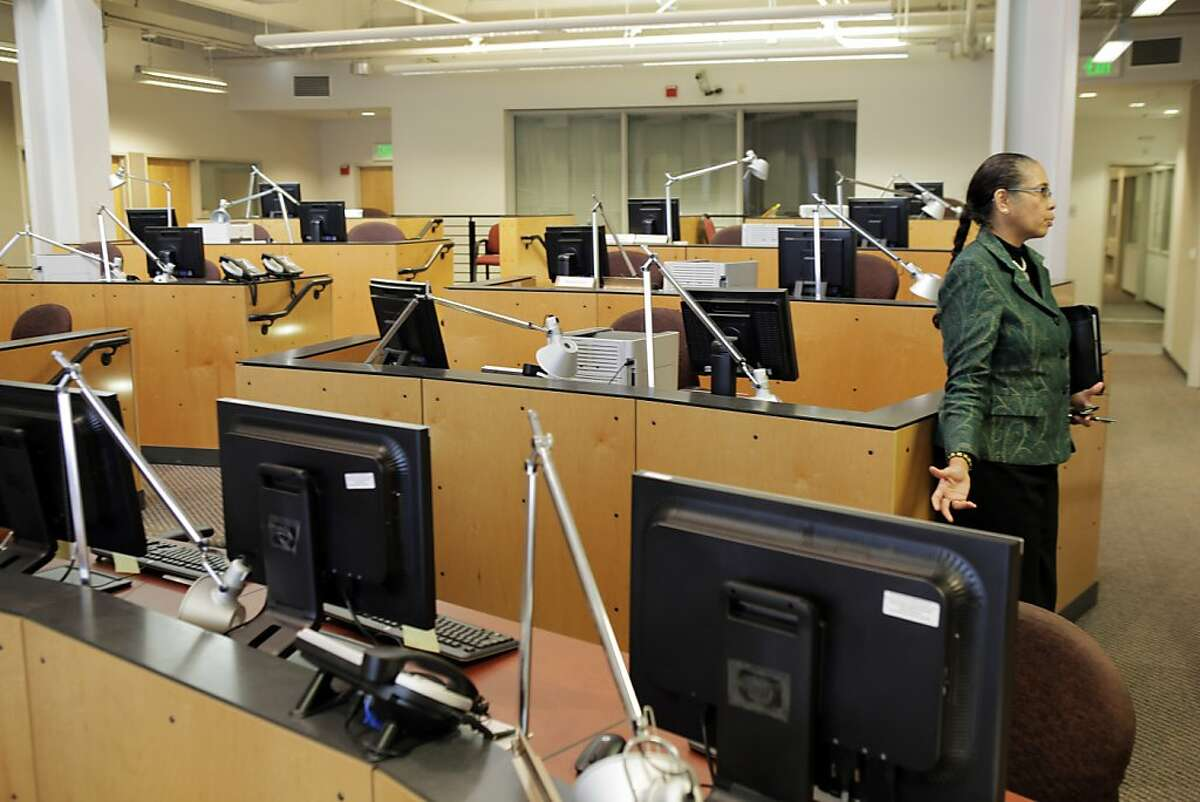 Reneé Domingo, Oakland's Director of Emergency Services, in the main room at the Domain Awareness Center in Oakland, Calif., on Tuesday, July 16, 2013. The DAC will soon combine emergency data and information sets from city police, fire, the Port of Oakland, among others in 2014.