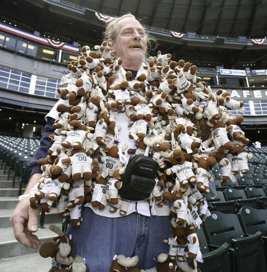 13 Seattle sports superstitions  Sports are full of superstition, and Seattle is no different than any other location in its use of virtual rabbits' feet. Sure, there are rally caps and other universal superstitions, but Seattle has its unique few. The ''Moose Man'' (pictured above), for instance, clearly has his own thing going on.   We scoured our brains, checked the Web and asked seattlepi.com readers on our Sports Forums about their own Seattle sports superstitions. And we found a lot of interesting stuff. Click through the gallery for 13 of Seattle's biggest sports superstitions.  And if you have your own superstitions, we want to hear about them! Feel free to leave a comment below.