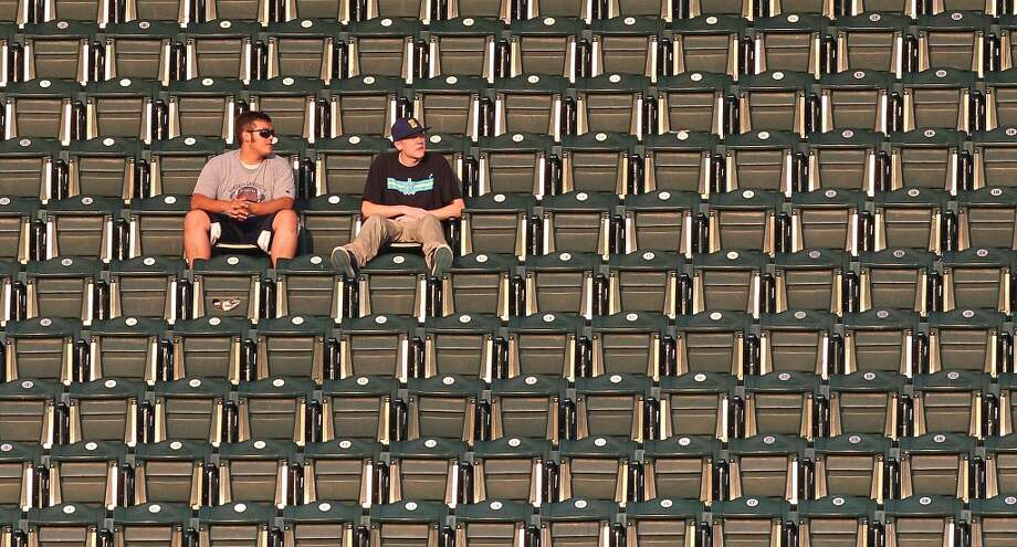 If the Mariners are losing and you leave the stadium early, the M's will come back and win. At least, that's what a lot of Mariners fans think. Maybe that's why there are so many empty seats at Safeco Field this year.