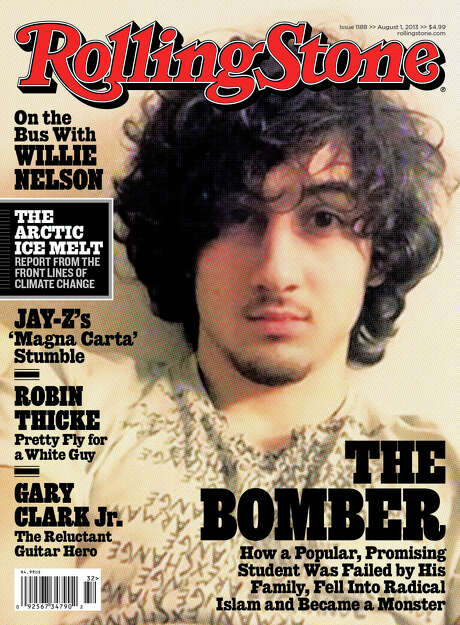 """In this magazine cover image released by Wenner Media, Boston Marathon bombing suspect  Dzhokhar Tsarnaev appears on the cover of the Aug. 1, 2013 issue of """"Rolling Stone."""" (AP Photo/Wenner Media) Photo: HOEP / Wenner Media"""