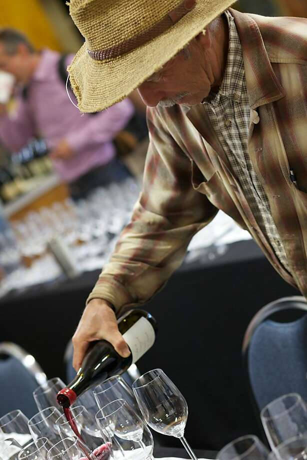 David Hirsch pouring at West of West Wine Festival. Photo: Amanda Lane