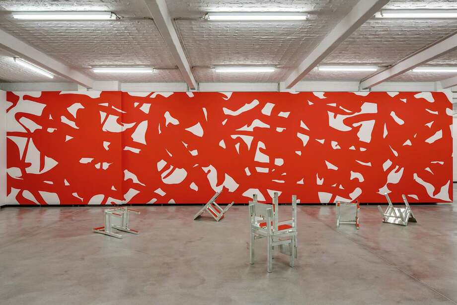 """The Linda Pace Foundation requested permission from the city's Historic and Design Review Commission to paint a large, temporary abstract mural titled """"Adam,"""" by Arturo Herrera, onto a blank wall of the Frost Bank parking garage that faces Main Plaza. Photo: Courtesy Photo"""