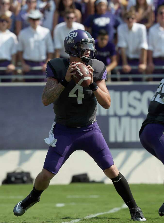 TCU QB Casey PachallPHOTO: Pachall throws against the Virginia Cavaliers at Amon G. Carter Stadium on Sept. 22, 2012, in Fort Worth. Photo: Ronald Martinez, Getty Images / 2012 Getty Images