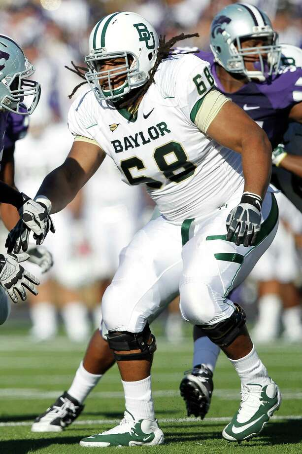 Baylor OL Cyril RichardsonPHOTO: Richardson blocks against Kansas State at Bill Snyder Family Football Stadium on Oct. 1, 2011, in Manhattan, Kansas. Photo: Joe Robbins, Getty Images / 2011 Joe Robbins