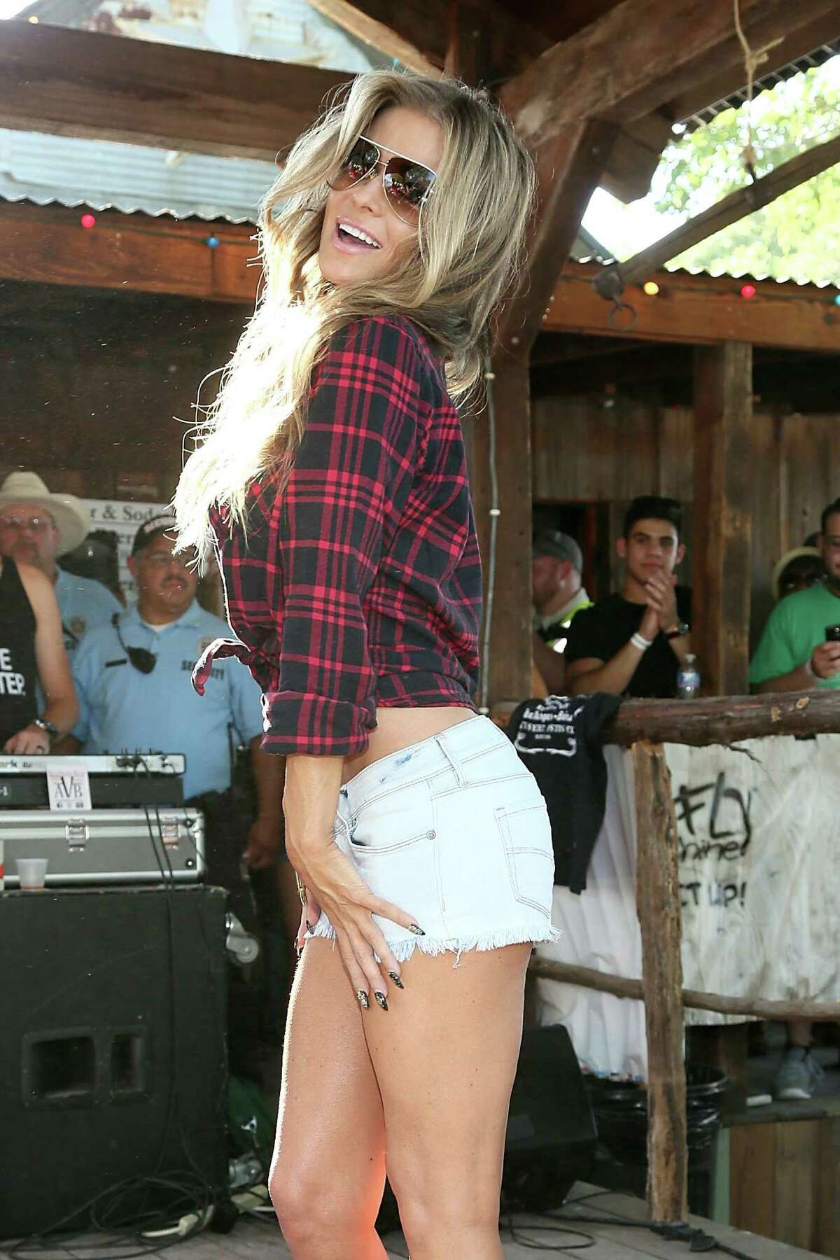 Carmen Electra was inducted into Bikinis, Texas' hall of fame Saturday in Bankersmith.