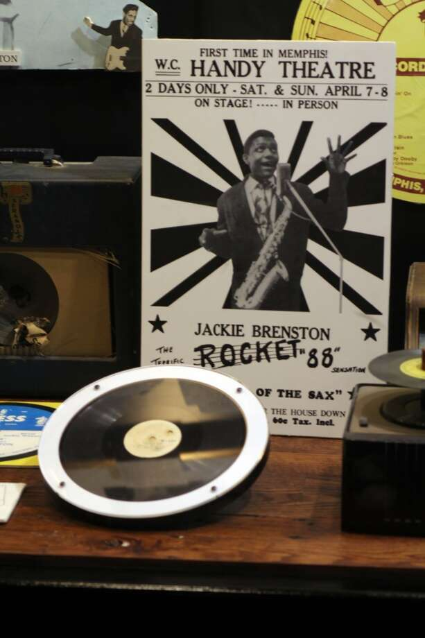 "The small museum at Sun Studio includes memorabilia from the various artists who recorded there, Including ""Rocket 88,"" considered one of the first songs of rock 'n' roll."