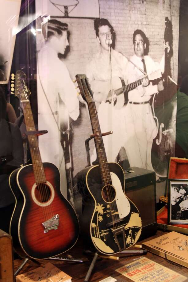 Guitars from the collections of Elvis and other artists who recorded at Sun Studio.