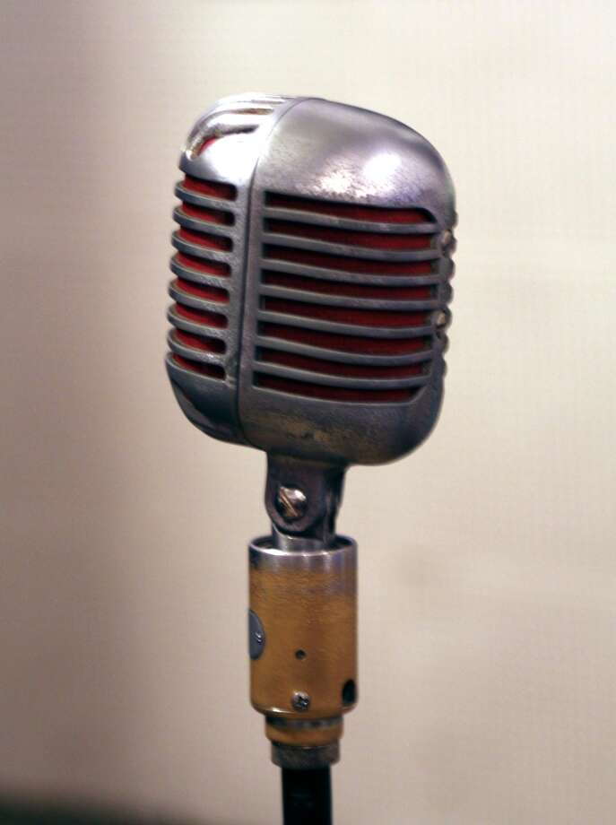 The microphone used for many of the earliest recordings of Elvis and Johnny Cash is a popular attraction at Sun Studio in Memphis.