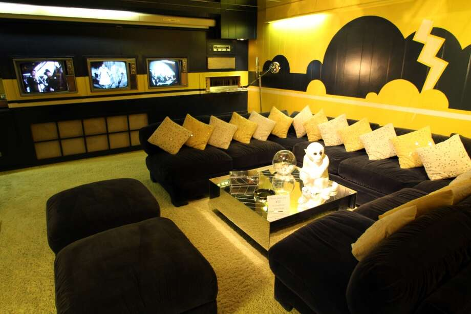 One of the lounges at Graceland includes three television sets, on which the pop star would watch the three major networks at the same time -- a habit he picked up from President Lyndon Johnson.