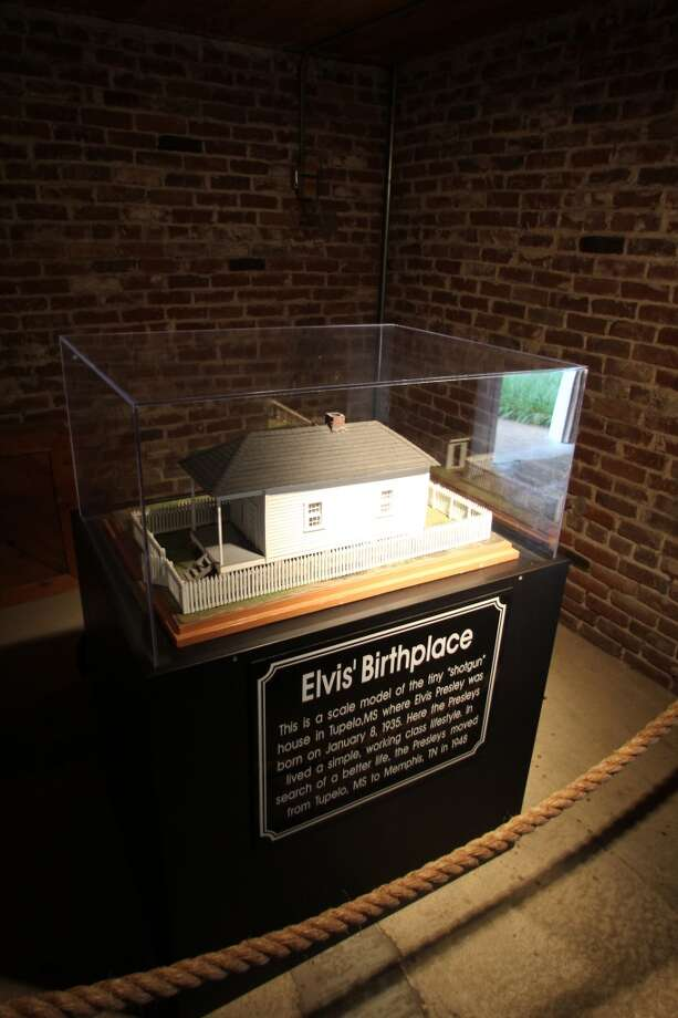 A model of where Elvis was born is on display at Graceland.