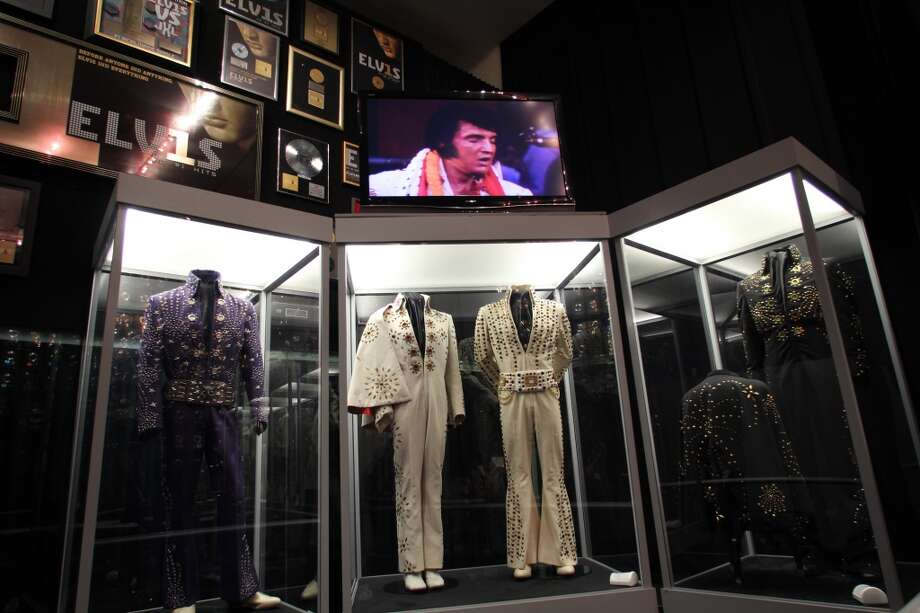 A few of the King's concert costumes from the jumpsuit years.