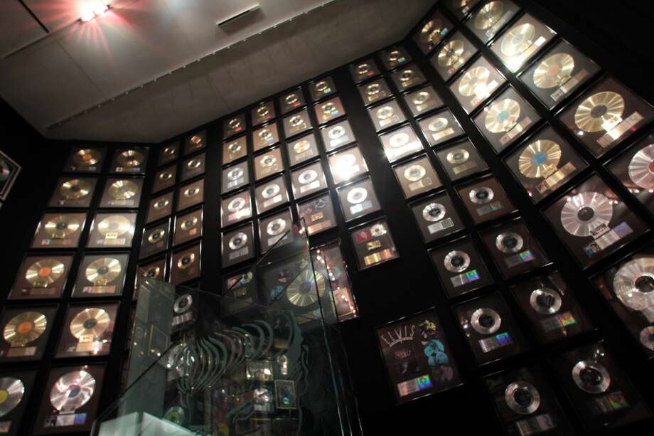 The gold and platinum records from Elvis' international sales.