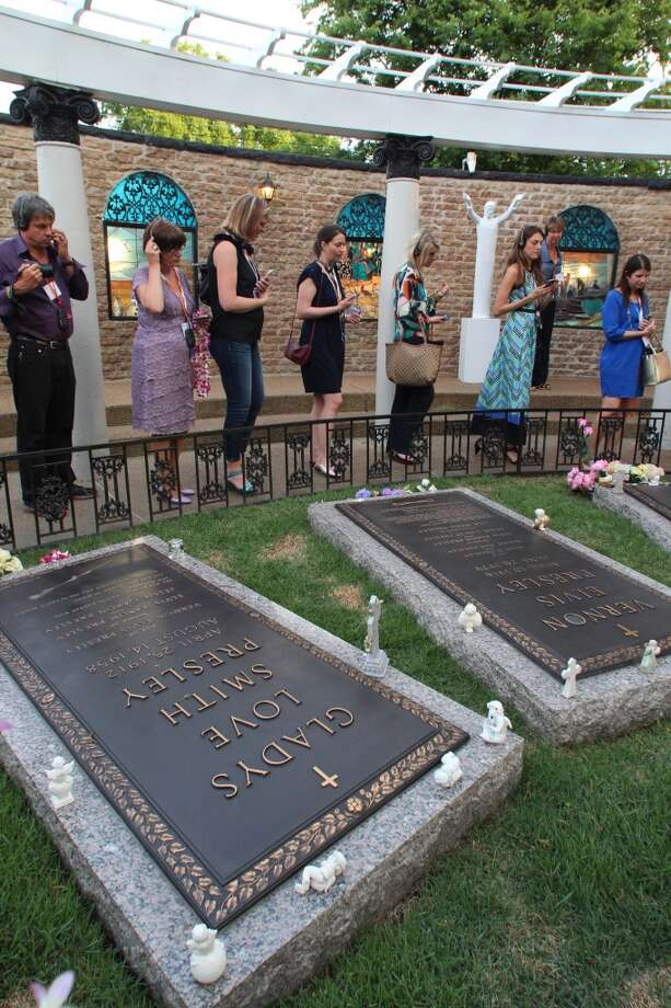 Among those buried at Graceland is Elvis' mother, Gladys.