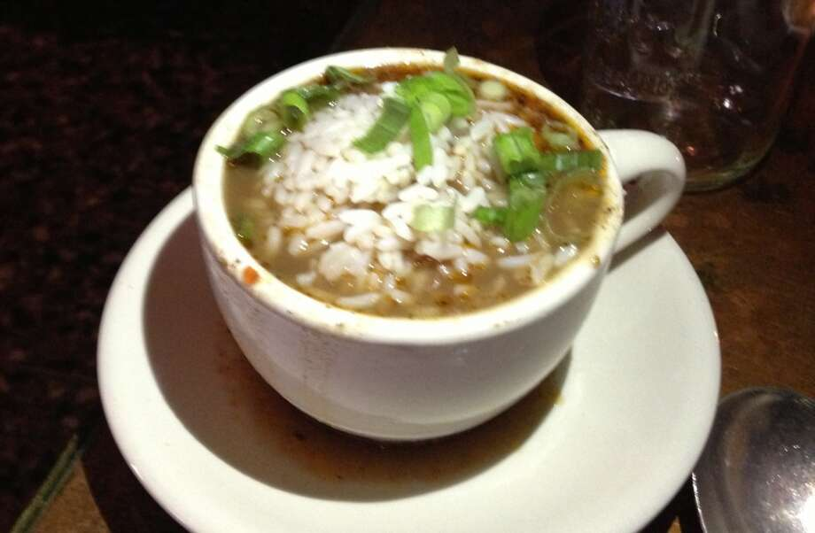 A cup of gumbo