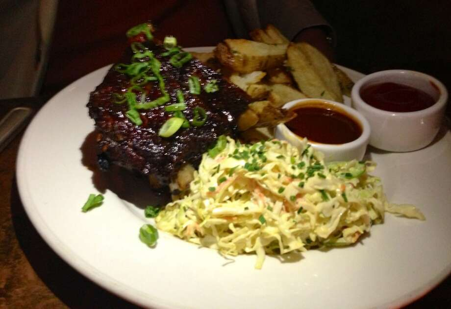 Ribs and slaw