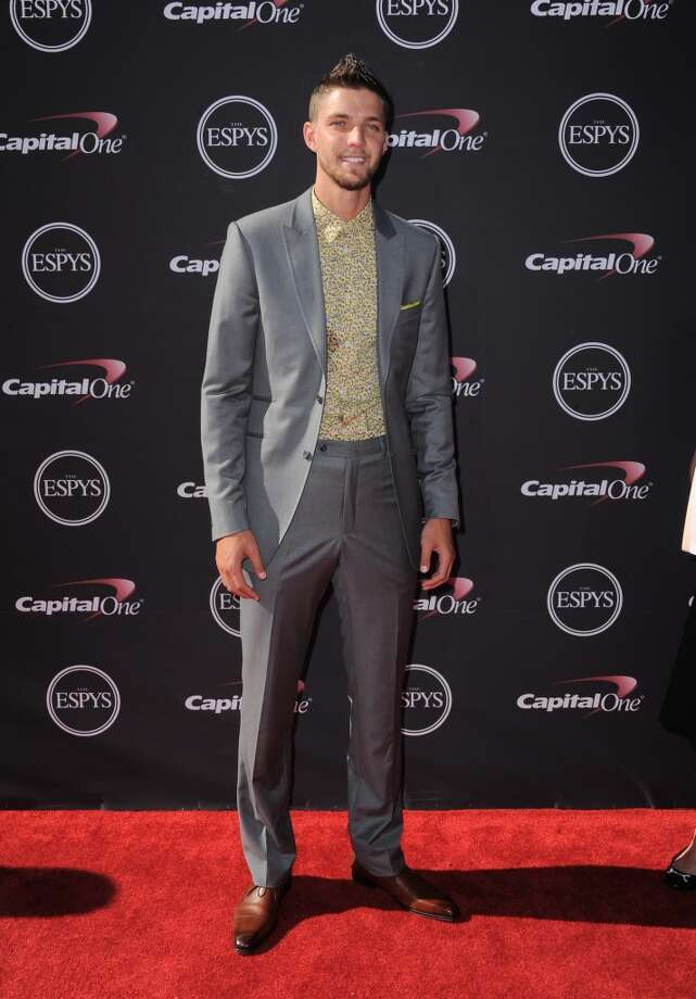 Rockets forward Chandler Parsons smiles for the cameras on the red carpet before the ESPY Awards.