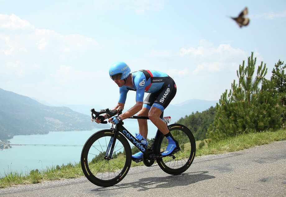 David Millar of Great Britain and Team Garmin-Sharp rides during stage seventeen of the 2013 Tour de France, a 32KM Individual Time Trial from Embrun to Chorges, on July 17, 2013 in Chorges, France. Photo: John Berry, Getty Images / 2013 John Berry