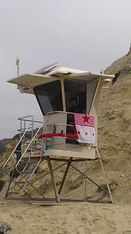 Sign of the times: even lifeguard posts have solar panels!