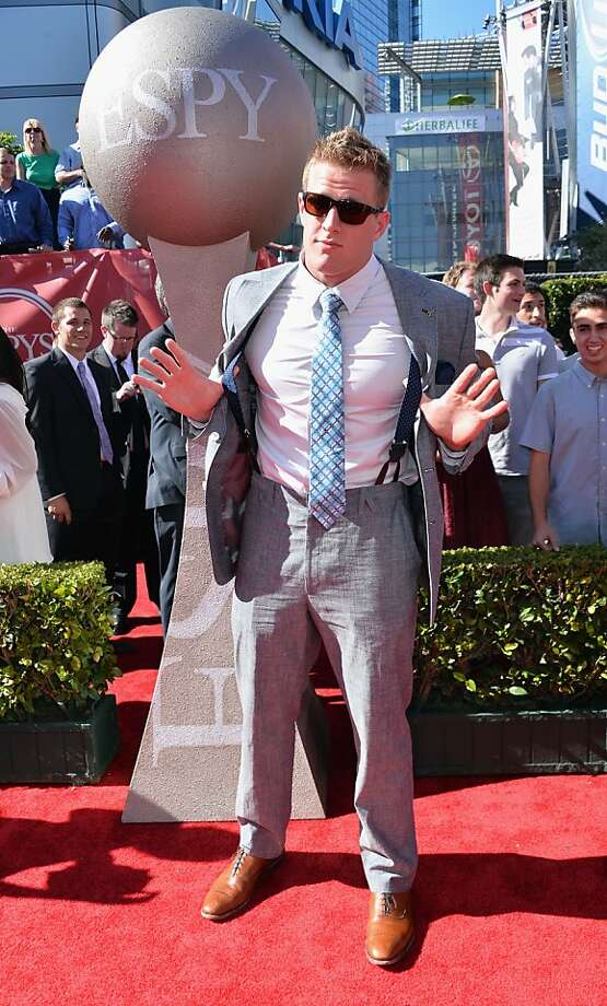 NFL player JJ Watt  attends The 2013 ESPY Awards at Nokia Theatre L.A. Live on July 17, 2013. Photo: Alberto E. Rodriguez, Getty Images For ESPY