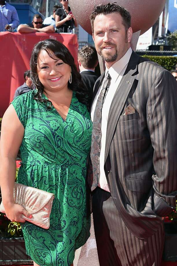 Pitcher Heath Bell (R) and Nicole Bell attend The 2013 ESPY Awards. Photo: Alberto E. Rodriguez, Getty Images For ESPY