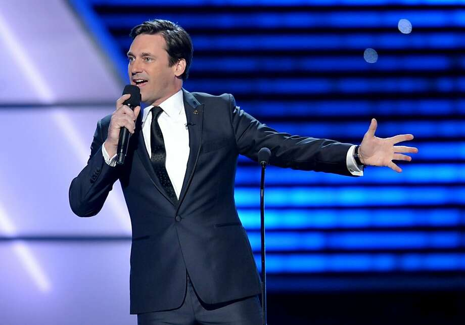 Host Jon Hamm speaks on stage at the ESPY Awards on Wednesday, July 17, 2013, at the Nokia Theater in Los Angeles. Photo: John Shearer, Associated Press