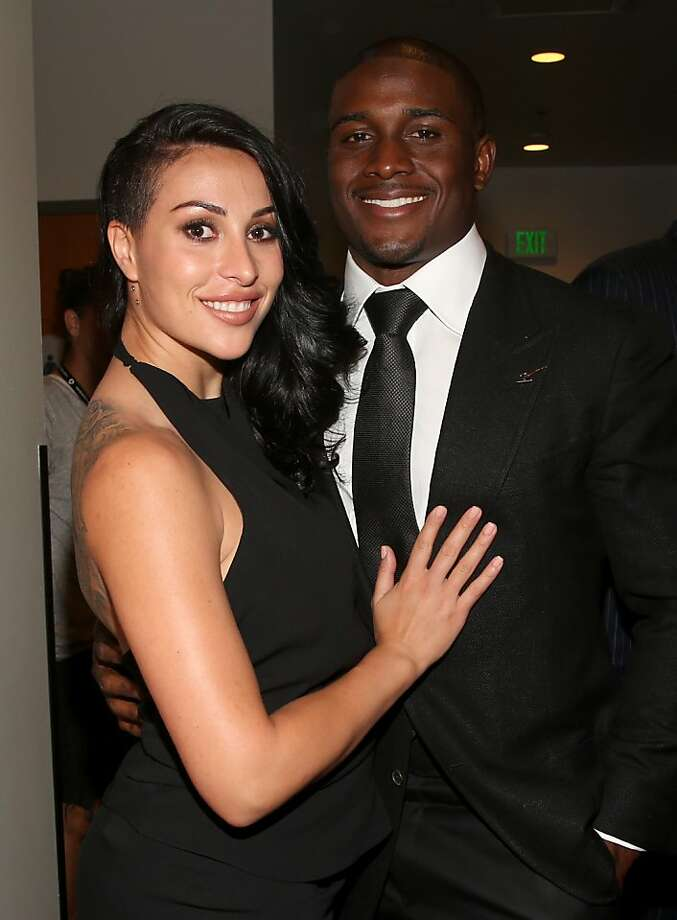 Lilit Avagyan (L) and NFL player Reggie Bush attend The 2013 ESPY Awards at Nokia Theatre L.A. Live on July 17, 2013 in Los Angeles, California.  Photo: Christopher Polk, Getty Images For ESPY